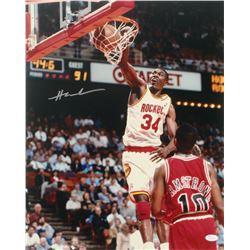 Hakeem Olajuwon Signed Houston Rockets 16x20 Photo (JSA COA)
