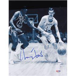 Jerry West Signed Los Angeles Lakers 8.5x11 Photo (PSA COA)