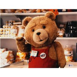 """Seth MacFarlane Signed """"Ted"""" 11x14 Photo (Beckett COA)"""