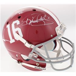 Eddie Lacy, Derrick Henry  Mark Ingram Signed Alabama Crimson Tide Full-Size Helmet (Radtke COA  Lac