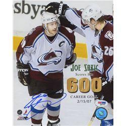 Joe Sakic Signed Colorado Avalanche 8x10 Photo (PSA COA)