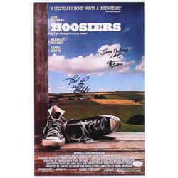 """Maris Valainis  Brad Long Signed """"Hoosiers"""" 11x17 Movie Poster Inscribed """"Jimmy Chitwood""""  """"Buddy"""" ("""