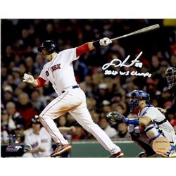 "J.D. Martinez Signed 2018 World Series 16x20 Photo Inscribed ""2018 WS Champs"" (Steiner COA)"