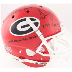 "Nick Chubb  Sony Michel Signed Georgia Bulldogs Full-Size On-Field Helmet Inscribed ""3638 Rush Yds"","