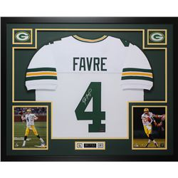Brett Favre Signed 35x43 Custom Framed Jersey (Favre Hologram)