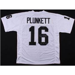 """Jim Plunkett Signed Jersey Inscribed """"S.B. XV MVP"""" (Radtke COA)"""