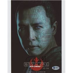 """Donnie Yen Signed """"Rogue One: A Star Wars Story"""" 8x10 Photo (Beckett COA)"""