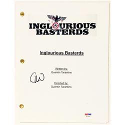"Christoph Waltz Signed ""Inglourious Basterds"" Full Movie Script (PSA COA)"