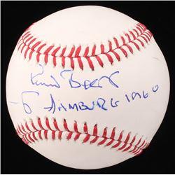 """Pete Best Signed OML Baseball Inscribed """"HAMBURG 1960"""" (Beckett COA)"""