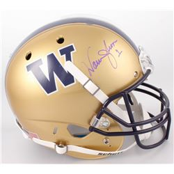 Warren Moon Signed Washington Huskies Full-Size Helmet (Radtke COA)