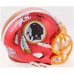 Adrian Peterson Signed Washington Redskins Chrome Speed Mini Helmet (Beckett COA)