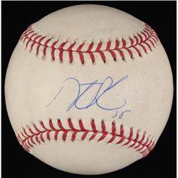 Dustin Pedroia Signed Game-Used OML Baseball (Steiner COA  MLB Hologram)