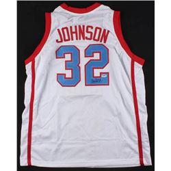 Magic Johnson Signed Jersey (PSA COA)