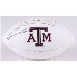 Trayveon Williams Signed Texas AM Aggies Logo Football (JSA COA)