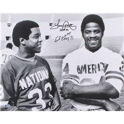 "Earl Campbell  Tony Dorsett Signed 16x20 Photo Inscribed ""HOF 91""  ""HOF 94"" (Beckett COA)"