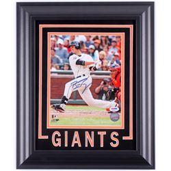 Buster Posey Signed San Francisco Giants 14.5x17.5 Custom Framed Photo Display (PSA COA)