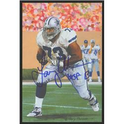 Larry Allen Signed 2013 LE Dallas Cowboys 4x6 Pro Football Hall of Fame Art Collection Card Inscribe