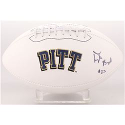 Tyler Boyd Signed Pittsburgh Panthers Logo Football (JSA COA)