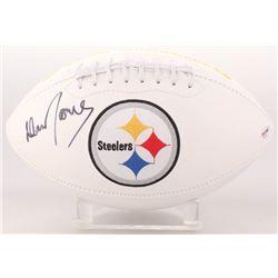 Dan Rooney Signed Pittsburgh Steelers Logo Football (PSA COA)