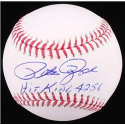 """Pete Rose Signed OML Baseball Inscribed """"Hit King 4256"""" (Radtke COA)"""