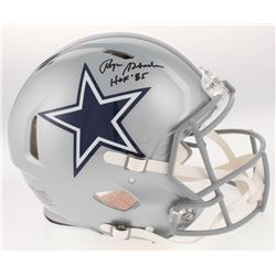 """Roger Staubach Signed Dallas Cowboys Full-Size Authentic On-Field Speed Helmet Inscribed """"HOF '85"""" ("""