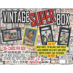 "SC ""VINTAGE SUPER BOX"" 1943-69 Baseball Card Mystery Box - 30+ CARDS PER BOX!"