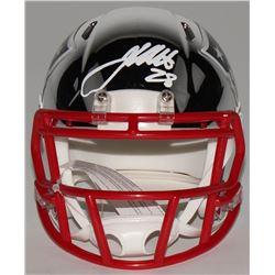 James White Signed New England Patriots Chrome Speed Mini Helmet (Fanatics Hologram)