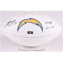 "Melvin Gordon Signed Los Angeles Chargers Logo Football Inscribed ""Flash Gordon"" (Radtke COA)"