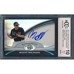 2011 Bowman Platinum Prospect Autograph Refractors #MM Manny Machado (BCCG 10)