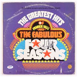 "Frankie Valli Signed ""The Greated Hits of Frankie Valli  The Fabulous Four Seasons"" Vinyl Record Alb"