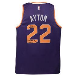 "Deandre Ayton Signed LE Phoenix Suns Nike Jersey Inscribed ""2018 NBA #1 Pick"" (Game Day Legends COA"