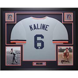 "Al Kaline Signed 35"" x 43"" Custom Framed Jersey (JSA COA)"