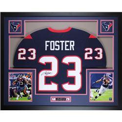 Arian Foster Signed 35x43 Custom Framed Jersey (JSA COA)