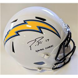 "Philip Rivers Signed Los Angeles Chargers Full-Size Speed Helmet Inscribed ""NUNC COEPI"" (Beckett COA"