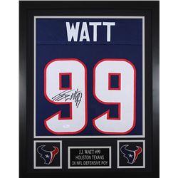 JJ Watt Signed 24x30 Custom Framed Jersey (JSA COA)