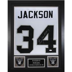Bo Jackson Signed  24x30 Custom Framed Jersey (JSA COA)