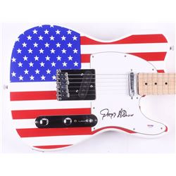 "Gregg Allman Signed Full-Size ""American Flag"" Electric Guitar (PSA Hologram)"