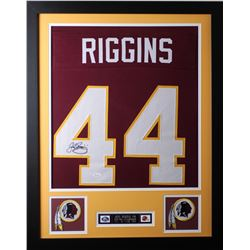 John Riggins Signed 24x30 Custom Framed Jersey (JSA COA)