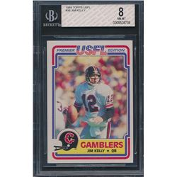 1984 Topps USFL #36 Jim Kelly RC (BGS 8)
