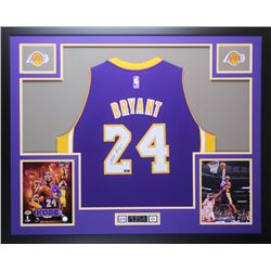 Kobe Bryant Signed 35x43 Custom Framed Jersey (Panini COA)