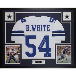 """Randy White Signed 35x43 Custom Framed Jersey Inscribed """"HOF 94"""" (Beckett COA)"""