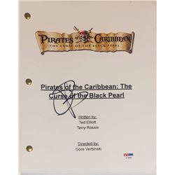"Orlando Bloom Signed ""Pirates of the Caribbean: The Curse of the Black Pearl"" Movie Script (PSA COA)"