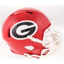 Roquan Smith Signed Georgia Bulldogs Full-Size Speed Helmet (Beckett COA)