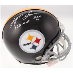 """Lynn Swann Signed Pittsburgh Steelers Full-Size Authentic On-Field Speed Helmet Inscribed """"SBX MVP"""""""