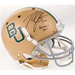 "Robert Griffin III Signed Baylor Bears Full-Size Helmet Inscribed ""Heisman 2011"" (Beckett COA)"