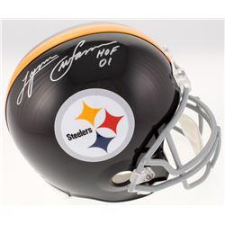 "Lynn Swann Signed Pittsburgh Steelers Full-Size Helmet Inscribed ""HOF 01"" (JSA COA)"