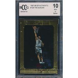 1997-98 SP Authentic #128 Tim Duncan RC (BCCG 10)