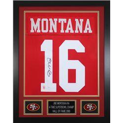 Joe Montana Signed 24x30 Custom Framed Jersey (JSA COA  Montana Hologram)