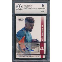 2014 SAGE HIT Autographs #A103 Odell Beckham Jr. SP (BCCG 9)