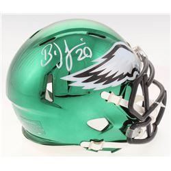 Brian Dawkins Signed Philadelphia Eagles Chrome Speed Mini Helmet (Radtke COA)